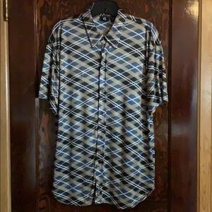 MEN'S GUESS plaid button down